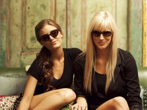 Paulina wearing Donna Rae Sunglass, Morgan wearing Seventy One Sunglass